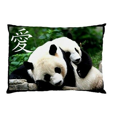 Chinese Love Close 2 U Giant Pandas Collectible Rare Picture Pillow Case 1 Side