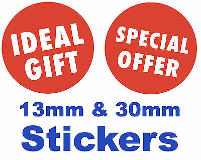Bright Red 'IDEAL GIFT' / 'SPECIAL OFFER' Stickers / Labels / Tags / Price Point