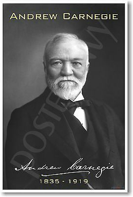 Andrew Carnegie - Famous Person - Entrepreneur Classroom NEW POSTER
