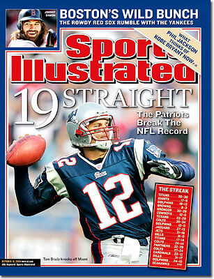 October 18, 2004 Tom Brady New England Patriots SPORTS ILLUSTRATED NO LABEL A