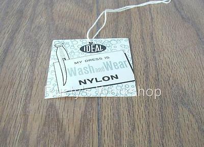 1950's Ideal SHIRLEY TEMPLE Doll Wash AND Wear Dress TAG (Reproduction)