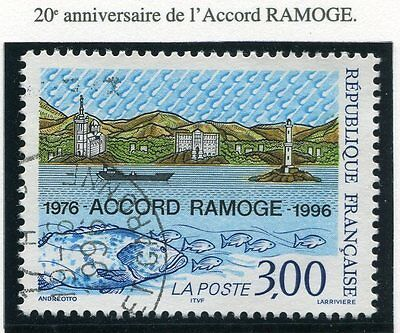 Timbre France Oblitere N° 3003 Accord Ramoge /