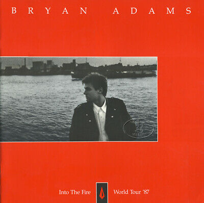 BRYAN ADAMS 1987 INTO THE FIRE Tour Concert Program Programme