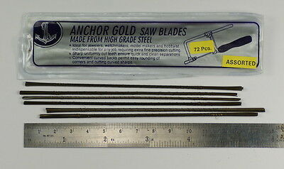 72x NEW PIERCING SAW FRAME BLADES FINE FOR JEWELLERY MAKING JEWELLER BLADE METAL