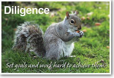 Diligence - NEW Classroom Motivational Poster