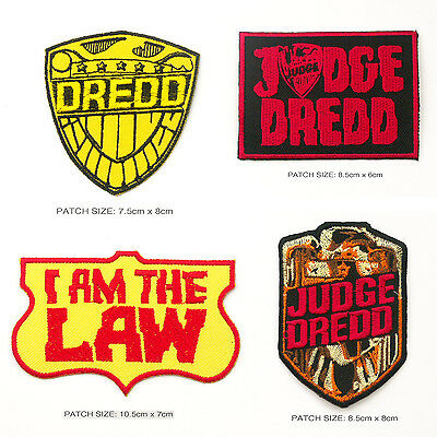JUDGE DREDD Classic 2000AD Lawman Cool Comic Patch Collection!