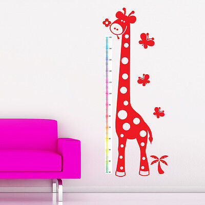 Giraffe Height Chart Wall Sticker Childrens Nursery Art Decal Vinyl Transfer