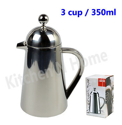 Coffee Plunger,3 cup/350ml,Stainless Steel,Double Wall insulated,LA CAFETIERE