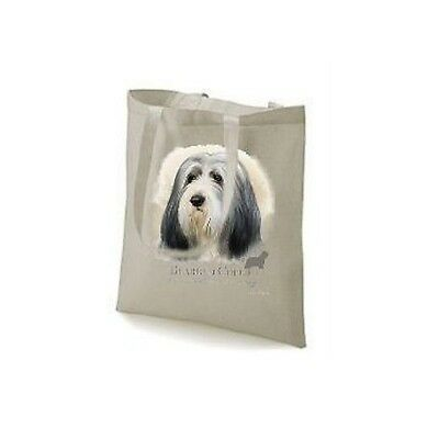 Bearded Collie Printed Design No 17479, Tote Natural Colour Shopping Bag