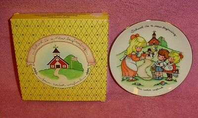 Avon 1986 Source of Fine School is a New Beginning Collectible Plate