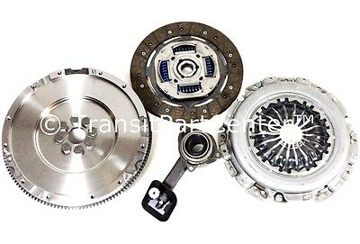Solid Flywheel Clutch Kit & Csc Ford Transit Connect 1.8 2004 Onward