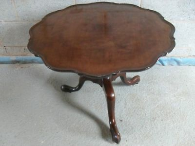 19th Century Mahogany pie crust edge tilt-top occasional table