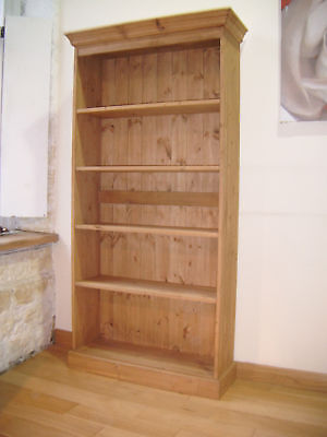 hand made solid pine BOOKCASE. hand waxed ADJ SHELVES