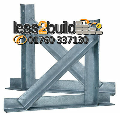 Gallows Brackets Chimney Support Galv 50x375x490mm Price Per Pair