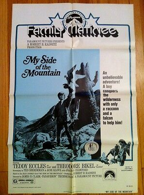 MY SIDE OF THE MOUNTAIN R1974 ORIG. Movie Poster FOLDED One Sheet 1SH RARE