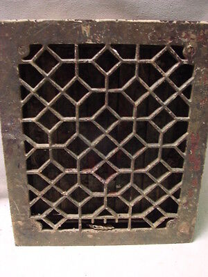 Antique Late 1800's Cast Iron Heating Grate Honeycomb Design 13.75 X 11.75 C
