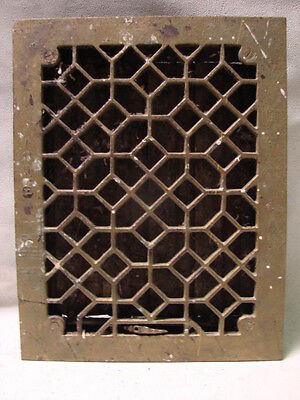 Antique Late 1800's Cast Iron Heating Grate Unique Ornate Design 13.75 X 10.75 H
