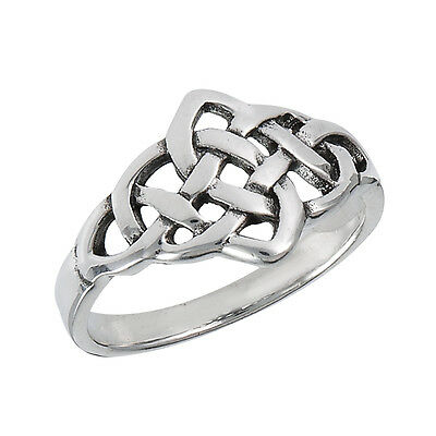 Gorgeous Sterling Silver Ring CELTIC Style Size 6-10