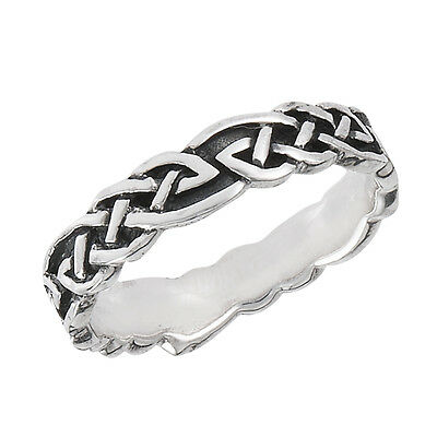 Sterling Silver Ring Celtic Knotwork Band Size 5-10