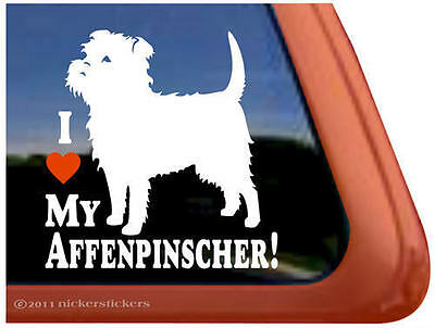 I LOVE MY AFFENPSINSCHER! High Quality Vinyl Decal w/ Unique Design