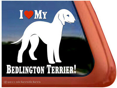 I LOVE MY BEDLINGTON TERRIER! High Quality Vinyl Dog Window Decal Sticker