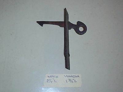 REDUCED!  Very Unusual Primative? Sheet Metal? Spring Return Latch. No Catch #86