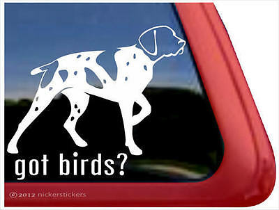 Got Birds? ~ High Quality Vinyl German Shorthair Pointer Window Decal Sticker