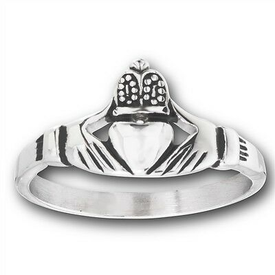 Stainless Steel Claddagh Claddaugh Cladagh CELTIC Ring Jewelry Size 5-18