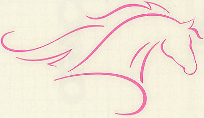 Lrg Arabian Horse Decal Trailer Truck Vinyl Equestrian Decor Pink Pony Sticker