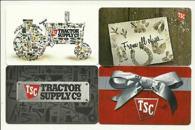 TSC Tractor Supply Co Lot of (4) Gift Cards No $ Value Collectible incl. Holiday