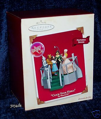 2003 Hallmark CLICK YOUR HEELS The Wizard of Oz MAGIC Ornament with Sound NEW