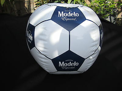 Modelo White Soccer Ball Inflatable Beer Blow Up sign bar beach Pool especial