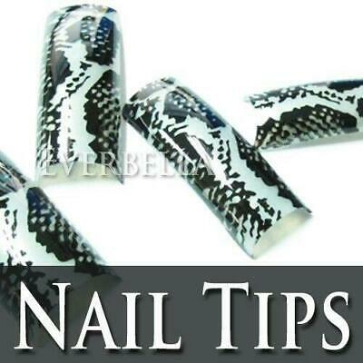 Nail Care, Manicure & Pedicure Useful 70 Pcs Pre-design Artificial French Acrylic False Half Nail Tips Cobra Snake 213 Less Expensive