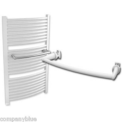 Extra Hanger For 500mm Wide Towel Rail Radiator & Bath Robe Bar Curved White NEW