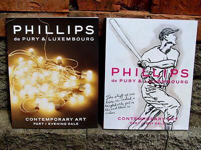 TWO Post Auction Catalogs / Phillips Contemporary Art / Warhol $80.00 Value