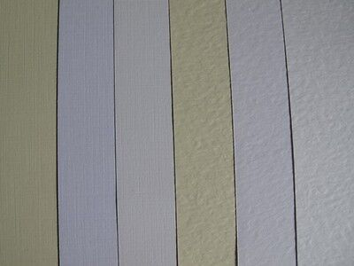 40 x A5 Zeta Textured Card 260gsm Hammer or Linen in White, Ivory or Brill White