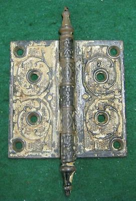 "Antique Victorian Door Hinge 4.5"" x 4.5"" #1279-13"