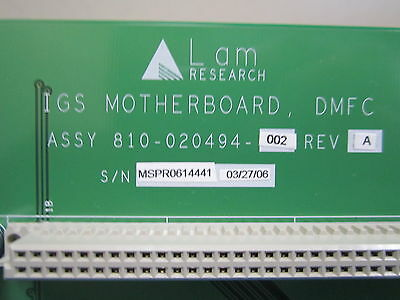 NEW Lam Research IGS Motherboard DMFC 810-020494-992 Rev A - Original Box