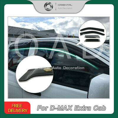 Premium Weather Shields Window Visors Weathershields D-MAX Extra Cab 12-19 4pcs