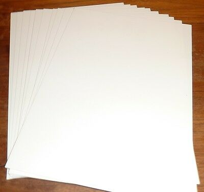 10 Sheets A4 Plasticard 0.50mm (20Thou) White or Black