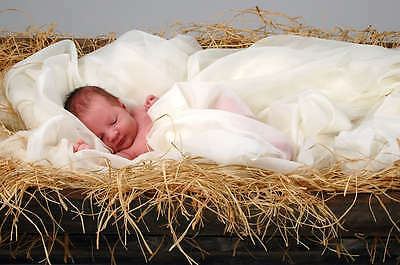 337 Gold & Satin Reborn Baby Fake/doll Auction Template