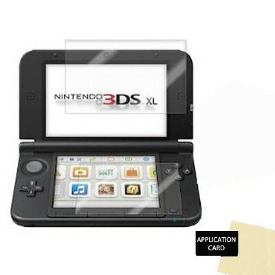 Clear Top and Bottom Screen Protector Guards with Cloth for NINTENDO 3DS XL