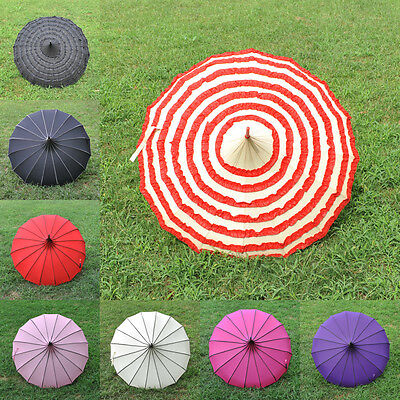 8 Colors Pagoda Parasol Wind-proof /Waterproof Umbrella Wedding Bride Parasol