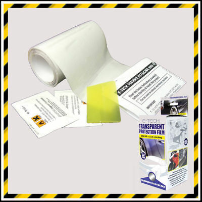 E-TECH TRANSPARENT / CLEAR PROTECTION FILM -  IDEAL FOR MOTORCYCLES- 12.5cm x 3m