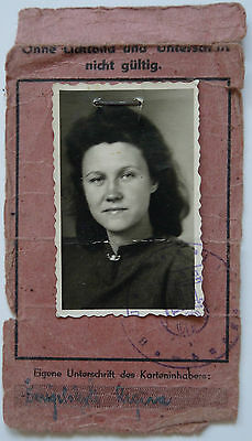 Lithuania University ID 1947 Antique ( DP Camp) Hamburg, Germany