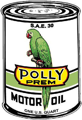 Polly Motor Oil  Vinyl Decal Sticker (A3475) 12 Inch