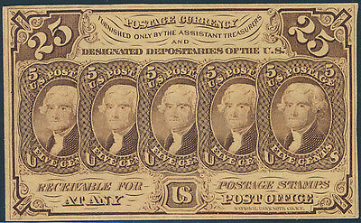Fr1281 S.e. With Monogram Gem Unc 25¢ Fractional Currencybp8513
