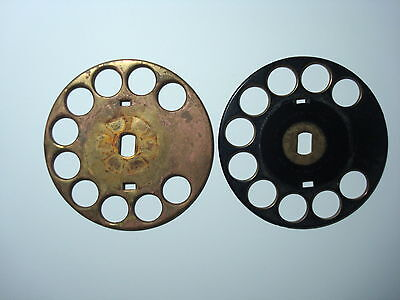Original SOLID Brass Western Electric telephone #2 and #4 fingerwheel