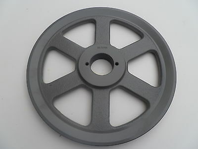 "Cast Iron pulley SHEAVE    10.25"" for electric motor 1 groove  3L 4L & A  belts"
