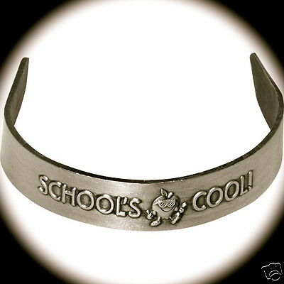 """SCHOOL'S COOL"" METAL CUFF BRACELETS/Wholesale Lot of 25/ALL NEW!"